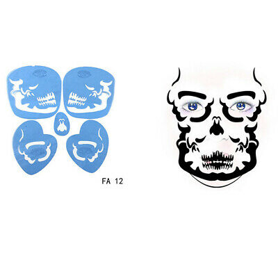 10x Body Face Painting Schablone Template Hochzeit Karneval Party Makeup