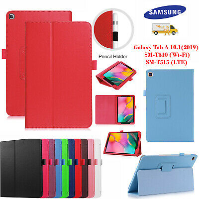 Leather Tablet Stand Flip Cover Case Samsung Galaxy Tab A 10.1 (2019) T510  T515