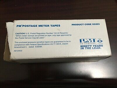 PM Company Neopost Postage Meter Single Tape Strips, White - 300 count