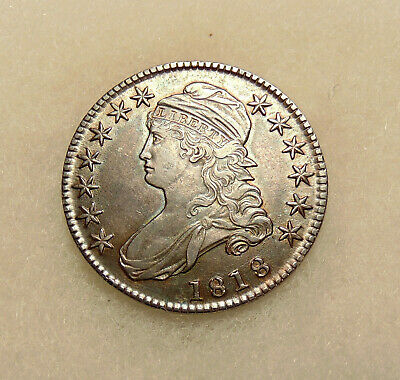 "1818 Capped Bust Half - O.108 ""Pincher 8's"" Variety - Sharp Looking AU Coin"