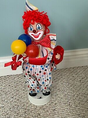 Telco Party Clown Figure happy birthday Sings Nose Lights Up 1989 Vintage