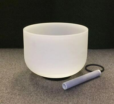 14 inch C Note Root Chakra Frosted Quartz Crystal Singing Bowl Free mallet&Oring