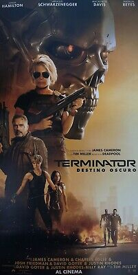 Poster Locandina Terminator Destino Oscuro Dark Fate 68X33 New Movie Cinema