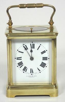 Antique French Original Lever Escapement 8 Day Striking Repeater Carriage Clock