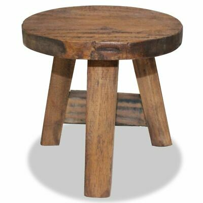 vidaXL Sturdy Stool Solid Reclaimed Wood Chair Vintage Small Rustic Stool Home