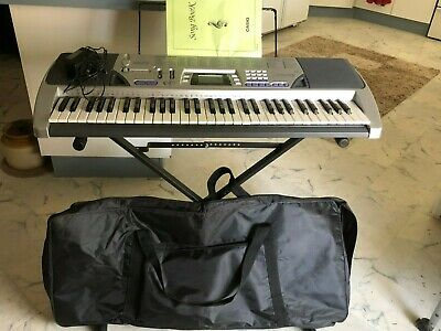Casio Keyboard piano with stand CTK496  /  Carry bag and song book