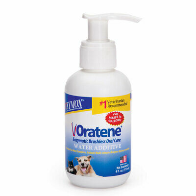 Pet Oral Health Oratene Water Additive Brushless Dog Cat Daily Dental Care 4oz