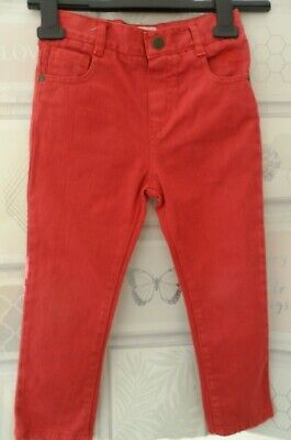 John Rocha Boys Jeans Age 3-4 yrs Tan Rust Brown Pockets Kids Casual