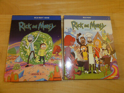 Rick Morty Season 1 and 2 (Blu-ray Disc, 2016), ***NOT 1st COLLECTIBLE BOOKLET**