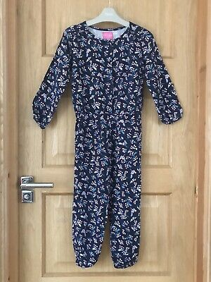 JOULES *5y GIRLS Floral JUMPSUIT ALL-IN -ONE OUTFIT AGE 5 YEARS