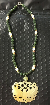 Antique Jade Hand Crafted Necklace