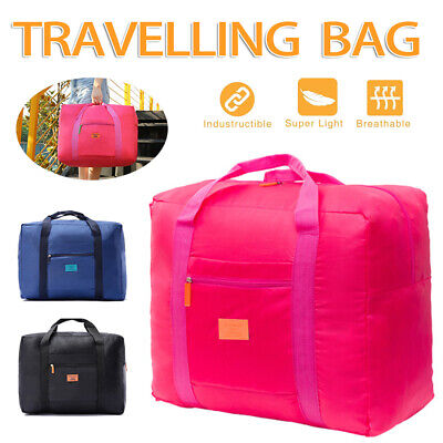 Portable Foldable Travel Luggage Waterpoof Baggage Storage Carry-On Duffle Bag