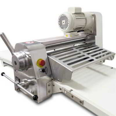 New Commercial Bench Top Dough Sheeting Sheeter Machine 520mm Belt 5Kg Dough Cap