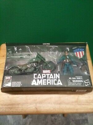 Marvel Legends Series 6-Inch Captain America Action Figure with Motorcycle