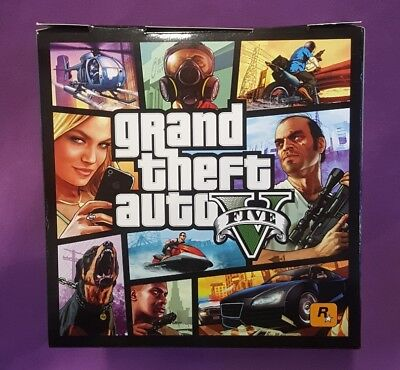Gta 5 Grand Theft Auto Cube Advertising Hard Cover Video Game PS3 Rockstar