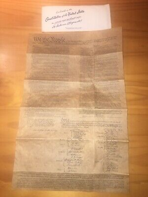 Constitution Of The United States On Genuine Aged Parchment Reproduction