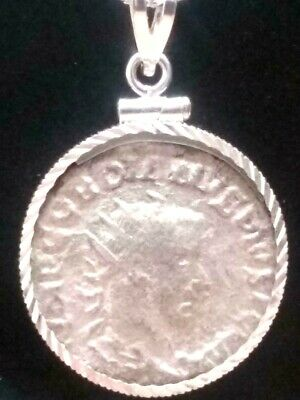 Gordian III Apollo Silver AR Authentic Ancient Roman Ant Coin Sterling Necklace