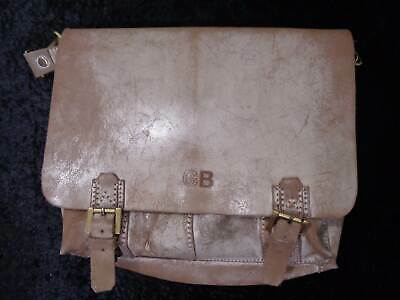 Greenburry Design Leather School Bag/Briefcase - Vintage Style - Shabby Chic