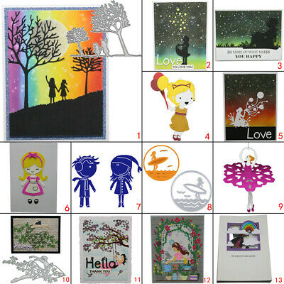 Happy Girl DIY Metal Cutting Dies Stencil Scrapbooking Card Embossing Album Art