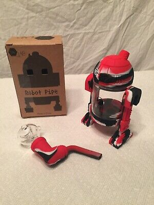 (Red, White & Black) Silicone Android Star Wars R2D2 Tobacco Water Pipe Bubbler