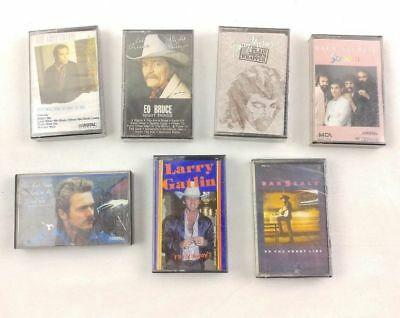 Lot of 7 Obscure To Mainstream Country Music Cassette Tapes - Most Sealed
