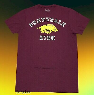 New Buffy the Vampire Slayer Sunnydale High 1992 Mens Vintage Throwback T-Shirt