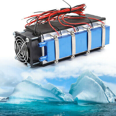 DIY 8 Chip Thermoelectric Cooler Refrigeration Semiconductor Peltier Cooling 12V