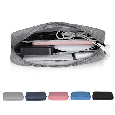 Portable Travel Storage Bag USB Charger Case Data Cable Electronics Organizer T0