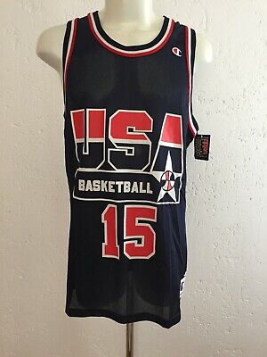 Jersey Team USA Basketball 1992 Barcelona Olympics #15 Magic Johnson Champion