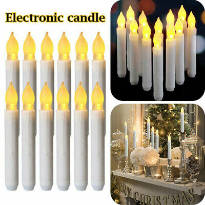 1/5pcs Flameless LED Taper Candles Lights Battery Operated Xmas Flickering Lamps