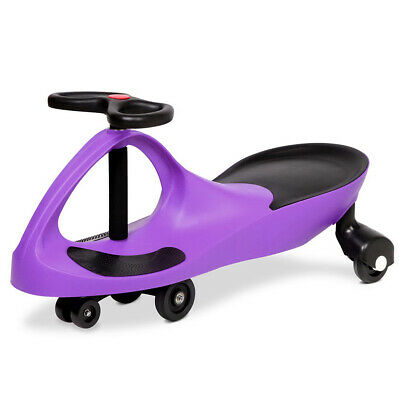 Swing Car Swivel Slider Kids Ride On Toy Stable Wiggle Scooter Safe Speed Purple