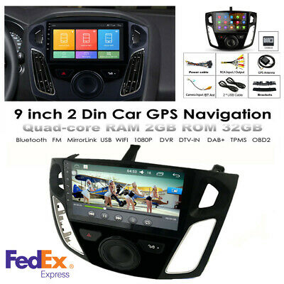 """For 12-17 Ford Focus 9"""" Android 9.1 2GB+32GB Radio Stereo GPS Navi w/ Canbus -US"""