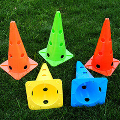 5×Speed Agility Hurdles Cones Fitness Exercise Sport Football Training Equipment