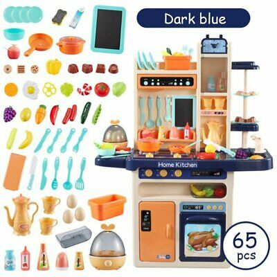 Large Electronic Children Kids Kitchen Cooking Toy With Water Feature 65PCS ACCS