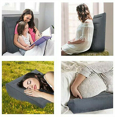 Inflatable Wedge Pillow Lightweight Portable, Bed Wedge Fast Inflating/Deflation