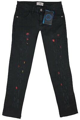 NEW Young Versace RRP £229 Designer Boys Ripped Jeans Pants AGE 8 Kids A304