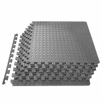 Interlocking GREY Heavy Duty EVA Foam Gym Flooring Floor Mat Tiles 6x60x60x1 cm