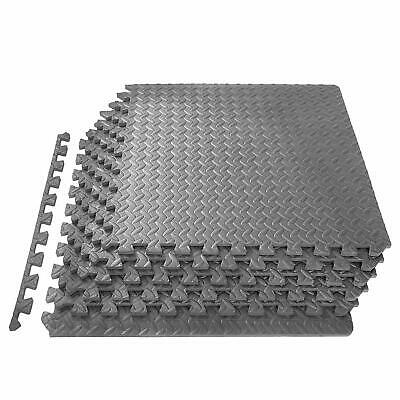 Interlocking GREY Heavy Duty EVA Foam Gym Flooring Floor Mat Tiles 18x60x60x1 cm