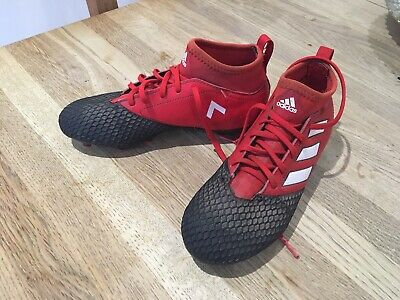 Adidas Football Boots Boys Size 2 Red And Black