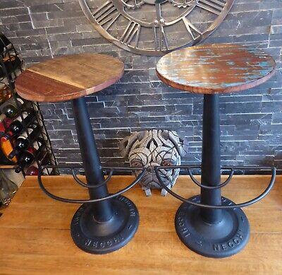 PAIR OF NECCHI Sewing Machinist Stools antique vintage Industrial Retro Bar