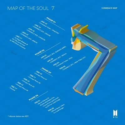 BTS [ MAP OF THE SOUL 7 ] album CD Photocard Poster Bighit Preorder Tracking New