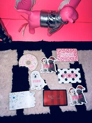 VICTORIA' SECRET Pink Gift Cards Puppies COLLECTIBLE Dog RARE