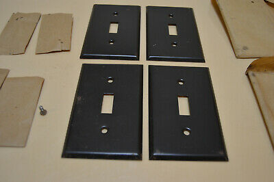 Metal Dark Brown Single Switch Plates With Screws (Lot Of 4 Plates)