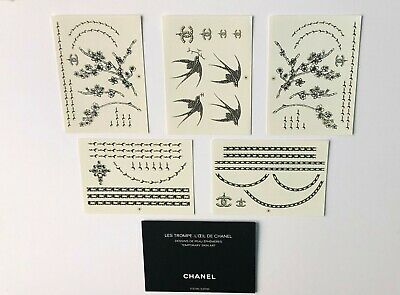 NEW Chanel authentic temporary skin art - 5 sheets containing 55 Designs