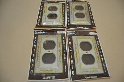Vintage Mirra-Cote Conempo Double Outlet Plastic Receptacle Covers (Lot Of 4)