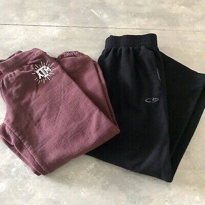 Champion Aggies Girls Sweatpants 2 Pieces Size 7/8 Black Maroon Rhinestones