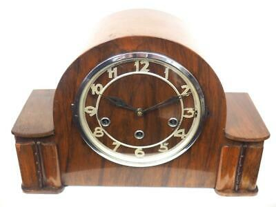 Antique Art Deco Westminster Chime Mantel Clock English Musical Mantle Clock