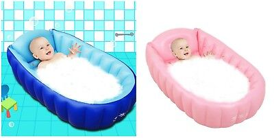 Baby Inflatable Bathtub Swimming Pool Portable Travel Newborn Infant Toddler Tub