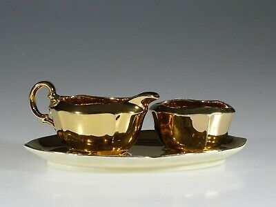 Royal Winton Golden Age Cream and Sugar with Tray, England c. 1950