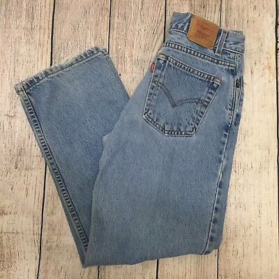 Vtg Levis 550 Light Wash Boys Size 14 Regular Blue Jeans Pants